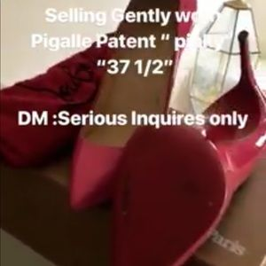 Christian Louboutin Pink Pigalle Patent Leather
